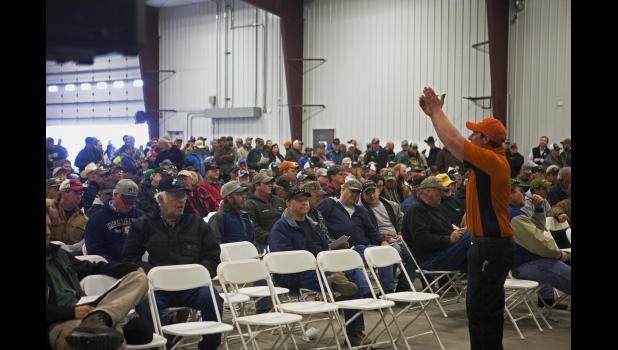 Masses of people, both local and out of towners, filled the Dowling shop for the auction.