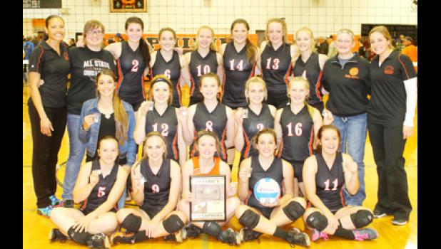 The Philip Lady Scotties volleyball team took the District 14B championship title.