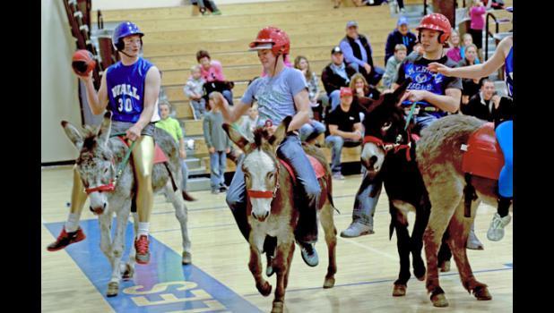 Donkey Basketball tournament