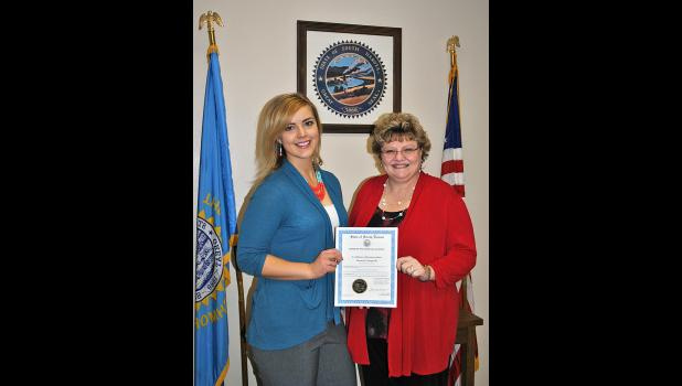Cheyenne McGriff, Wall Economic Development Director and Cindy Schuler, one of the seven board members of the Wall Economic Development Corporation.