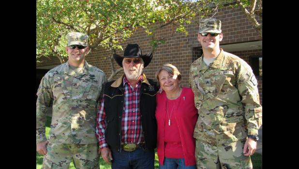 Callen Clavel, David and Angel (mom) Kennedy, Tyler Clavel pictured following the brothers deployment ceremony held in Rapid City. Photo courtesy Charmaine Lightfield