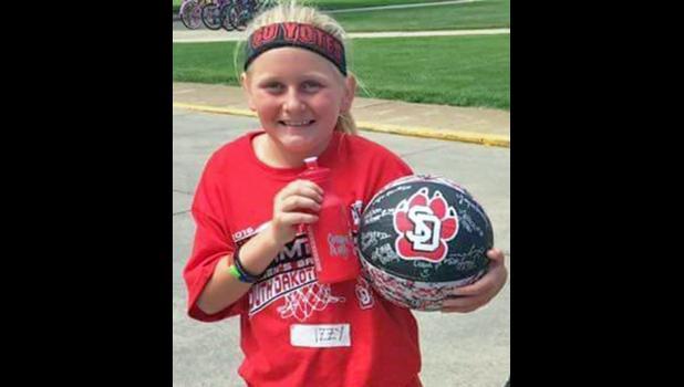 Fourth grader Izzy McNaughton