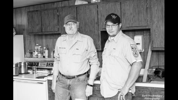 The kitchen crew at the annual Murdo Fire Department Pancake Feed on Friday, September 18. Jim Hockenbary (left) has been a volunteer firefighter for 47 years! Thank you for your service, Jim! (Right) Fire Chief, Andy Hatheway.