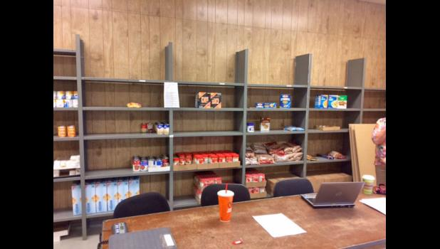 The shelves and freezers of the Country Cupboard food pantry are almost empty. To donate funds, call 279-1045. To donate food stuffs, drop-offs can be made during the pantry's open hours, at the Philip or Wall grocery stores, or at any local church.