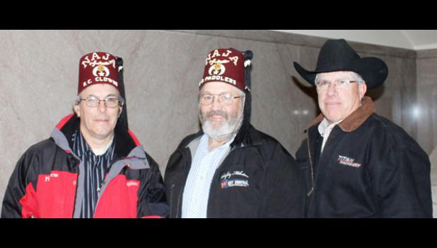 Representing the Shriners during a fact finding mission at the city council meeting for a possible Shriners circus coming to Philip were, from left, Joel Stephens, Kevin Neuhauser and Mitch Norman.