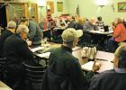 Members of the MRC board, (L-R): Kim Halverson, Attorney Ken Cotton, Monte Anker and Tim Greenway, face the audience gathered for the rail authority meeting held Thursday, December 14 at Chamberlain.
